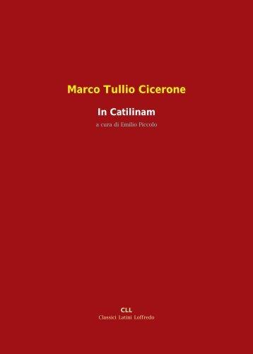 Marco Tullio Cicerone In Catilinam