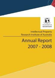 Annual Report 2007 - 2008 - Intellectual Property Research Institute ...