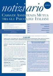 Il Notiziario Campi 2009-2010 in formato pdf. - Ordine degli Psicologi