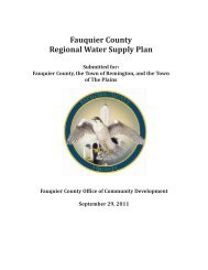 Fauquier County Regional Water Supply Plan