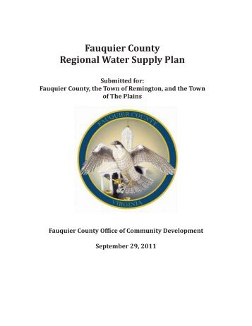 Fauquier County Regional Water Supply Plan