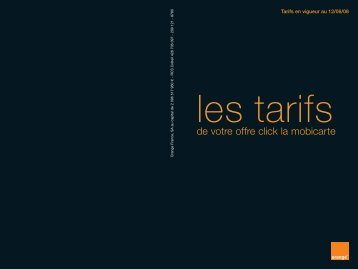 les tarifs - Orange mobile