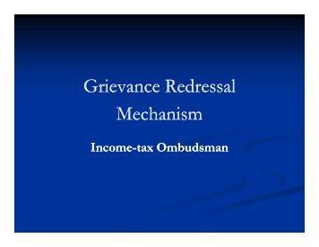 Grievance Redressal Mechanism