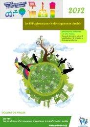 Télécharger le dossier présentant nos initiatives pour le - Pep