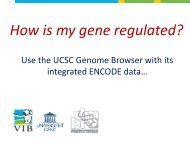 How is my gene regulated? - Bits.vib.be