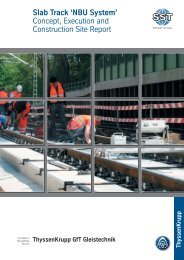 Slab Track 'NBU  System' - Naumburger Bauunion GmbH & Co. KG