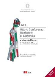 Atti della Ottava Conferenza Nazionale di Statistica - Istat.it