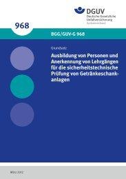 BGG/GUV-G 968 -
