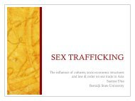 Sex Trafficking: The influence of cultures, socio-economic structures ...