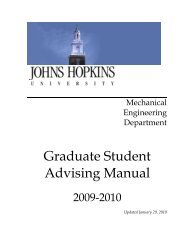 Graduate Student Advising Manual - Mechanical Engineering ...