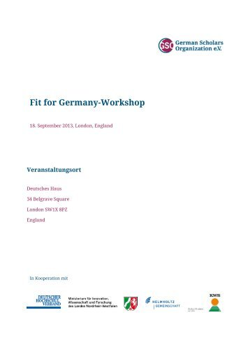 Sponsorenbrief Berkeley - German Scholars Organization