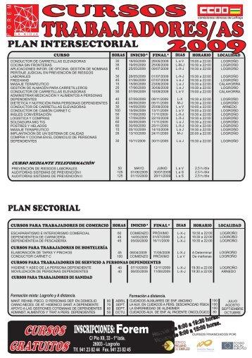 cursos trabajadores 2009 - Comisiones Obreras de La Rioja