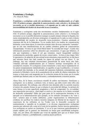 Feminismo y Ecología - CubaEnergia