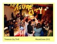 Treasure City Thrift ReuseConex 2012 - Reuse Alliance