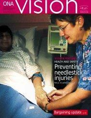 Preventing needlestick injuries - Ontario Nurses' Association