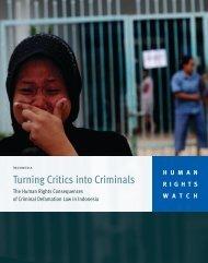 Turning Critics into Criminals - Human Rights Watch