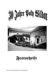 30 Jahre Polytechnischer Lehrgang Wildon - Polytechnische Schule ...