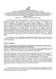 Reabertura do período de inscrições no concurso público - Antaq