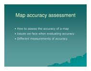 Map accuracy assessment