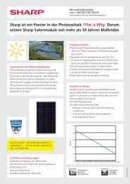 Sharp ist ein Pionier in der Photovoltaik /This is Why: Darum setzen ...