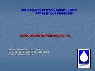 Avaliação de riscos à saúde humana em Santo Amaro-BA - Cetem