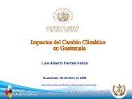 Presentación del Ministro de Ambiente y Recursos Naturales Luis ...