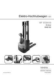 Elektro-Hochhubwagen Staxio SWE100 - Toyota Material Handling ...