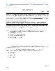 Ch 13 QUIZ - AP Chemistry
