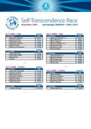 Self-Transcendence Race