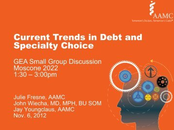 Current Trends in Debt and Specialty Choice - AAMC