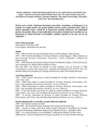 Interviu cu Parintele Prof Univ Dr Ioan C Tesu - 2011.pdf - Biserica ...