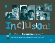MacKay Report on Inclusion