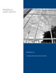 Morarjee Annual Report 2002-03 - Peninsula Land Ltd