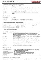 Sikkerhedsdatablad iht. EU forordning nr. 1907/2006 ... - Frederiksen