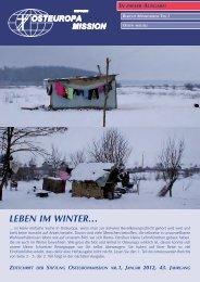leBen iM WinteR… - Osteuropamission Schweiz