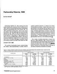 Partnership Returns, 1989 - Internal Revenue Service