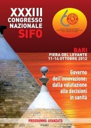 Info e Programma della manifestazione - Sifo