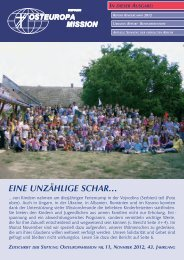 REPORT KINDER- SOMMERcAMPS 2012 - Osteuropamission ...