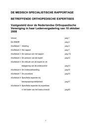 Richtlijn Medisch Specialistische Rapportage, 2008 - Nederlandse ...