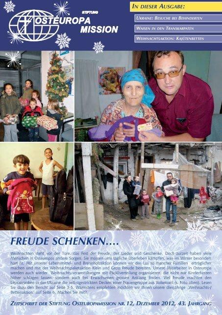 FREUDE SCHENKEN…. - Osteuropamission Schweiz