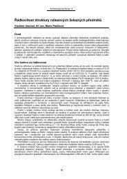 Řádkovitost struktury nálezových železných předmětů, s. 50.