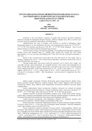 inventarisasi batubara bersistem di daerah buanajaya