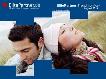 ElitePartner-Trendmonitor © August 2010 - ElitePartner-Akademie