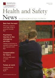 Health And Safety News - Thompsons Solicitors