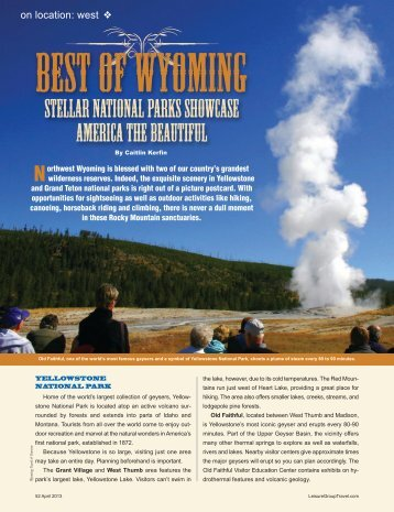 Best of Wyoming - Leisure Group Travel