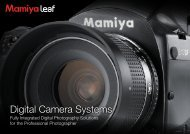 Digital Camera Systems - Mamiya