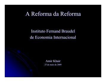 A previdência hoje e no futuro e sugestões de mudança - Instituto ...