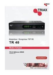 Manuel TR 40 HD - Triax