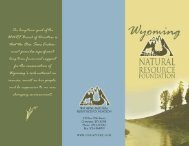 Olin Sims Endowment - Wyoming Association of Conservation Districts