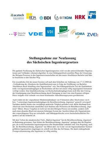 Stellungnahme zur Neufassung des Sächsischen ... - 4Ing